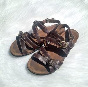 Dansko Brown Buckle Sandals